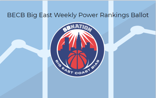 Weekly Big East Power Ranking Ballot for BECB 12/11/17